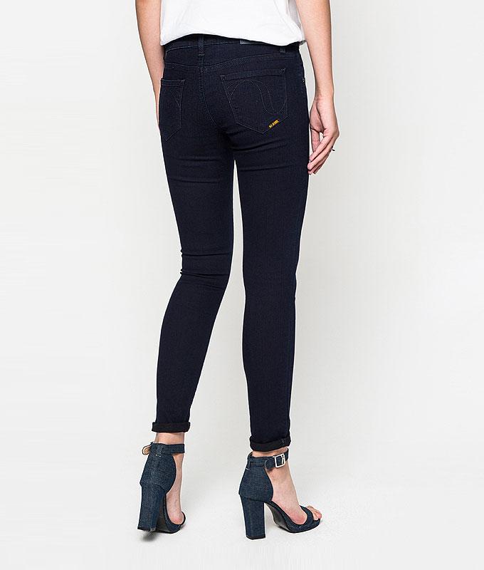 กางเกงยีนส์ Solid-rinsed High-rise Skinny