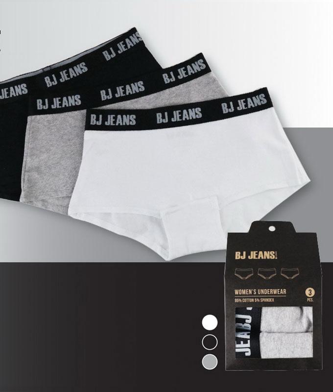 กางเกงในผู้หญิง Sport สีดำ (3 ชิ้น/กล่อง)